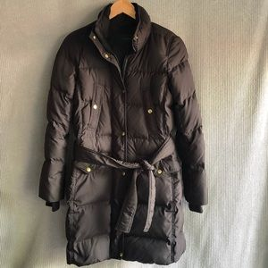 J crew Black Label down puffer jacket quilted coat